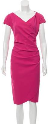 Chiara Boni Midi Cap Sleeve Dress Fuchsia Midi Cap Sleeve Dress