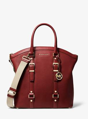 MICHAEL Michael Kors Bedford Legacy Large Pebbled Leather Dome Tote Bag