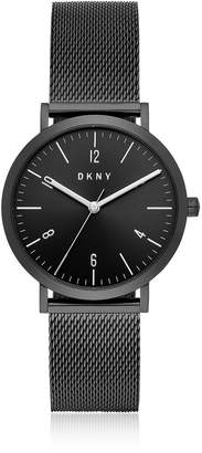 DKNY Minetta Black Ip Stainless Steel Mesh Women's Watch