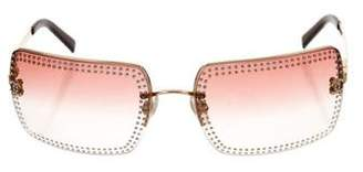 Chanel Strass Rimless Sunglasses