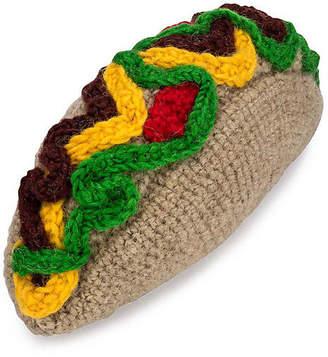 Lovethybeast Taco Knit Dog Toy - Brown - LoveThyBeast
