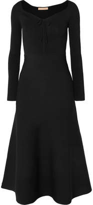 Brock Collection Kaia Stretch-knit And Jersey Midi Dress - Black