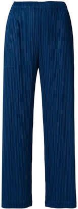 Pleats Please Issey Miyake pleated straight trousers