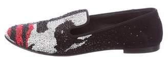 Giuseppe Zanotti Strass-Embellished Suede Loafers