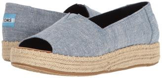 TOMS - Open Toe Platform Alpargata Women's Toe Open Shoes $74 thestylecure.com