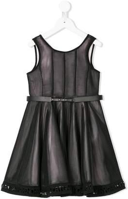 Givenchy Kids logo embroidered hem dress