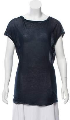 Avant Toi Short Sleeve Bateau Neck T-Shirt