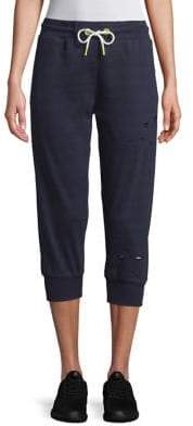 Sam Edelman Cropped Ripped Sweatpants