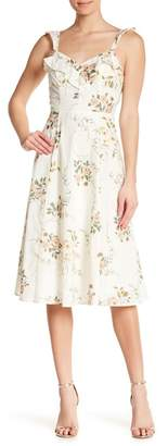 June & Hudson Printed Lawn Floral Ruffle Dress