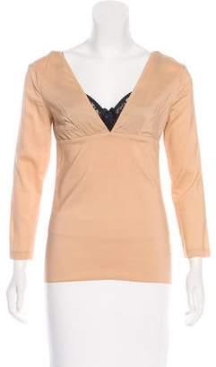 Dolce & Gabbana Long Sleeve V-Neck Top