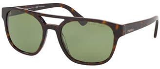 Prada Men's Patterned Acetate Double-Bridge Sunglasses