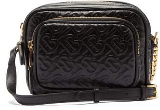 Burberry Tb Leather Camera Cross Body Bag - Womens - Black