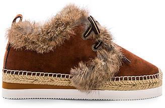 See by Chloe Glyn Rabbit Fur Sneaker
