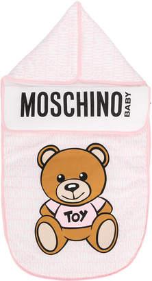 Moschino Kids bear print sleeping bag