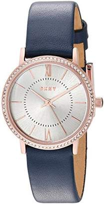 DKNY Women's 'Willoughby' Quartz Stainless Steel and Leather Casual Watch