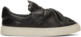 Ports 1961 Black Bow Slip-On Sneakers $560 thestylecure.com
