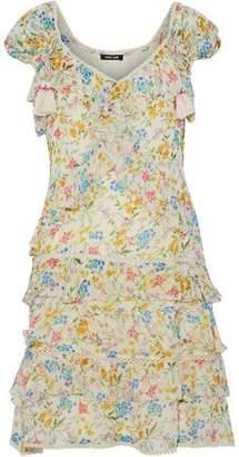 Love Sam Tiered Floral-print Georgette Mini Dress