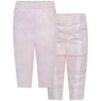 Burberry BurberryBaby Girls Pink Reversible Darcy Trousers