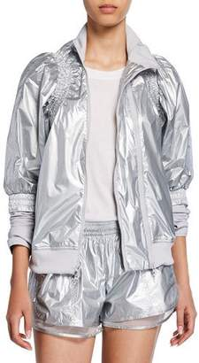 adidas by Stella McCartney Metallic Zip-Front Running Jacket