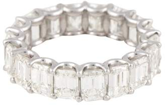 18K White Gold Emerald Cut Diamond Ring Size 5.75