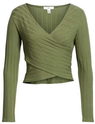 BP Rib Knit Wrap Top
