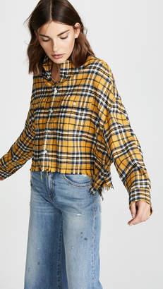 R 13 Cropped Work Shirt