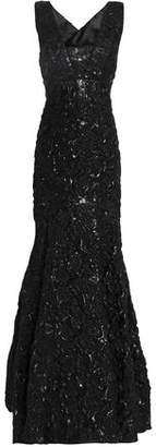 Milly Penelope Cloqué-Jacquard Gown
