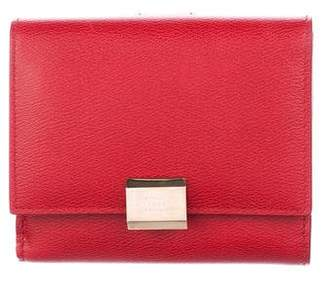 Smythson Leather Flip-Lock Wallet