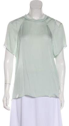 Theyskens' Theory Silk Crew Neck Top