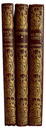One Kings Lane Vintage Works of William Thackeray - 3 Vols - The Montecito Collection