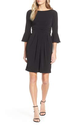 Eliza J Bell Sleeve Knit Sheath Dress