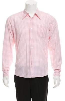 Dries Van Noten Gingham Button-Up Shirt