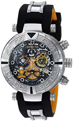 Invicta Men's 'Character Collection' Quartz Stainless Steel and Silicone Casual Watch