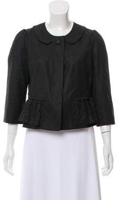 Rebecca Taylor Wool Ruffle-Trim Jacket
