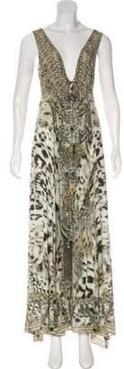 Camilla Silk Embellished Maxi Dress