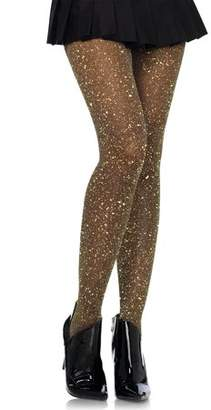 860536e52625f Leg Avenue Women's Lurex Sparkly Shiny Glitter Footed Tights, 3 Pairs,  Black/Gold