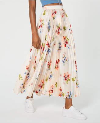 Jill Stuart Floral-Print Pleated Maxi Skirt