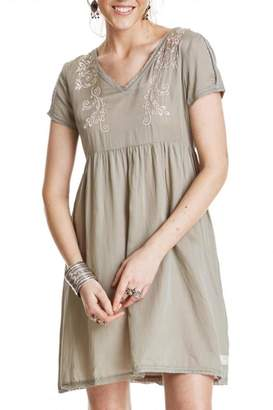 Odd Molly Sage Embroidered Dress