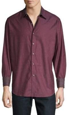 Robert Graham Gouverneur Dotted Button-Front Shirt