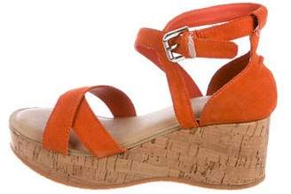 Ralph Lauren Girls' Suede Strappy Wedges