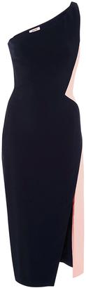 Cushnie et Ochs One Shoulder Color Blocked Cocktail Dress $1,395 thestylecure.com