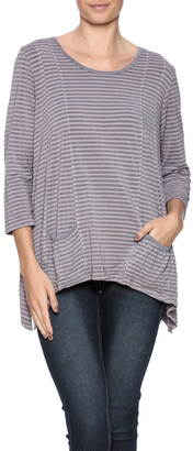 Hartstrings Tonal Stripe Top $62 thestylecure.com