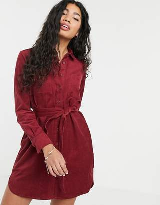 People Tree oversize shirt dress in cord