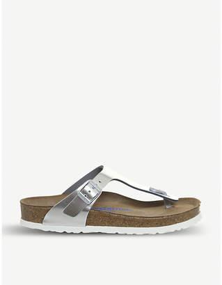 Birkenstock Gizeh open-toe metallic sandals