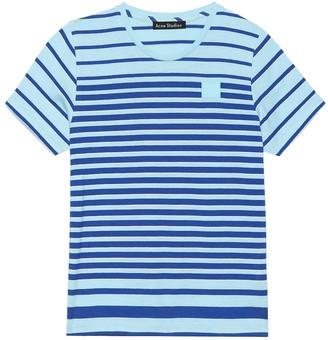 Acne Studios Kids Mini Face striped T-shirt