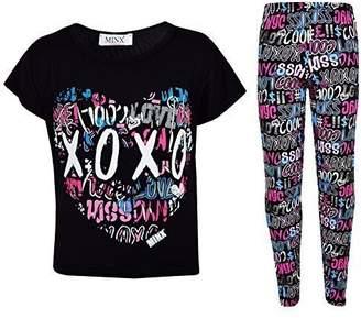 XOXO a2z4kids Kids Girls Printed Trendy Top & Cool Graffiti Fashion Legging Set 7-13 Year