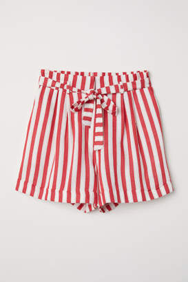 H&M Striped Shorts - Red