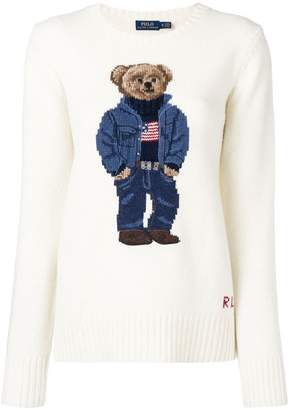 Polo Ralph Lauren teddy bear intarsia sweater