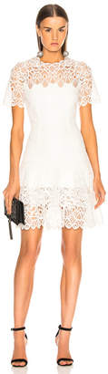 Jonathan Simkhai Multimedia Lace Mini Tee Dress