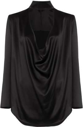Michael Lo Sordo draped-front blouse